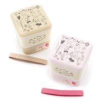 le sucre Lacquerware 2-Tier Square Lunch Box