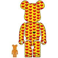 BE@RBRICK Yellow Heart 100% & 400% Set
