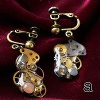 Clip-On Gear Earrings