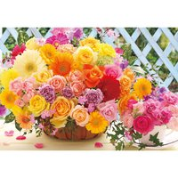 Happy Rose Bouquet Jigsaw Puzzle