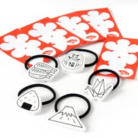 ApparE Japanese Motif Hair Ties