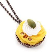 Q-pot. Parlor Pumpkin Mont Blanc Necklace