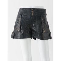 Rozen Kavalier Synthetic Leather Shorts