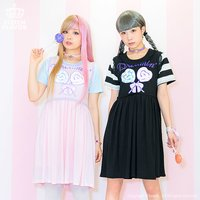 LISTEN FLAVOR Lollipop Candy Layered Dress
