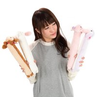 Pote Usa Loppy Long Squeaking Rabbit Plush Collection