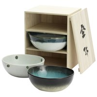 Elegant Mino Ware Trio Bowl Set