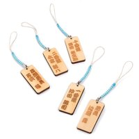 Souvenir Japan Shinsengumi Kifuda Netsuke Wooden Tag Collection