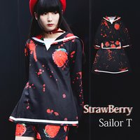 ACDC RAG Bloody Strawberry Long Sleeve Sailor Top
