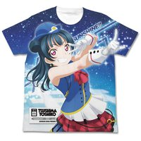 Love Live! Sunshine!! Yoshiko Tsushima Happy Party Train Ver. White Graphic T-Shirt