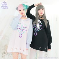 LISTEN FLAVOR Heart Cross Sailor Dress