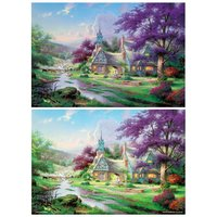 Clock Tower Cottage Jigsaw Puzzle