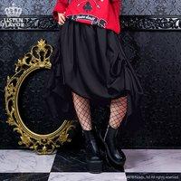 LISTEN FLAVOR Bat Hemline Maxi Skirt