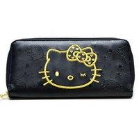 Hello Kitty Wink Gold Long Wallet