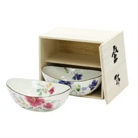 Hana Suisai Mino Ware Serving Bowl Set
