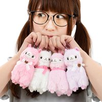 Alpacasso Girly Lace Ribbon Alpaca Plush Collection (Ball Chain)