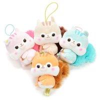 Fusappo Nuts Favorite Food Squirrel Plush Collection (Mini Strap)