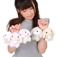 Pote Usa Loppy Baby Rabbit Plush Collection (Ball Chain)