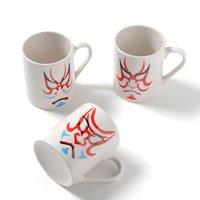Kumadori Kabuki Face Mugs