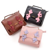 FLAPPER Ribbon Applique Satchel