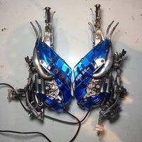 Blue Cyberpunk Headphones