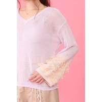 Honey Salon Frilly Sleeves Knit Top