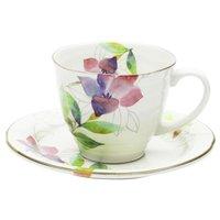 Hana Tsumi Mino Ware Coffee Cup & Saucer Set