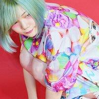 ACDC RAG Name Neko Candy Pattern T-Shirt Dress