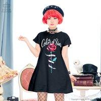 LISTEN FLAVOR The Color of Sin T-Shirt Dress