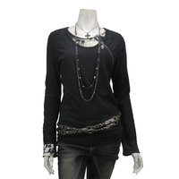 Ozz Croce Layered Zipper T-Shirt