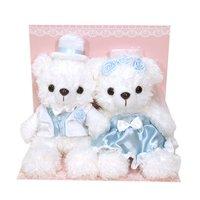 Bridal Set White x Black Bear Plush Collection