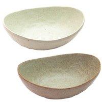 Elegant Mino Ware Curry Plates