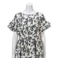OLIVE des OLIVE Lace-Up Back Dress