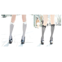 ERIMAKI SOX Stripe Bias High Socks