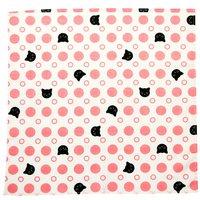 Polka Dot Cats Small Furoshiki Wrapping Cloth