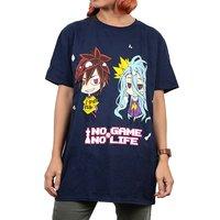 No Game No Life Chibi Sora & Shiro Men's Screen Print T-Shirt