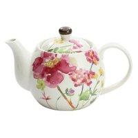 Hana Shiraba Mino Ware Red Poppy Teapot