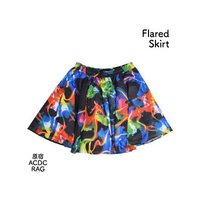 ACDC RAG Psychedelic Flared Skirt