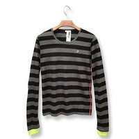Hatsune Miku Timeline Striped Long Sleeve T-Shirt (Black)