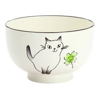 WIldflowers & Cat Lacquerware Soup Bowl