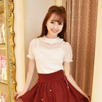 LIZ LISA Scalloped Sukapan Skirt