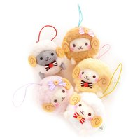 Fuwa-moko Natural Wooly Sheep Mini Strap Plush Collection
