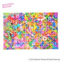 Sebastian.M Colorful Rebellion Hologram Postcard