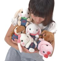 Pote Usa Loppy Denim Rabbit Plush Collection (Standard)