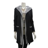 Rozen Kavalier Bicolor Hooded Cardigan