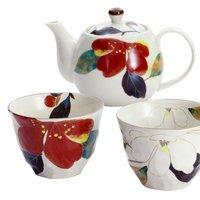 Hana Kairo Mino Ware Teapot Set