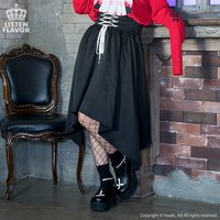 LISTEN FLAVOR Lace-Up Hemline Skirt