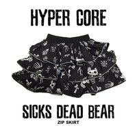 HYPER CORE Sicks Dead Bear Zip Skirt