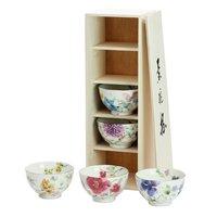 Hana Suisai Mino Ware Rice Bowl Set