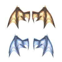Pepatama Papercraft Wing Set A: Dragon Wings
