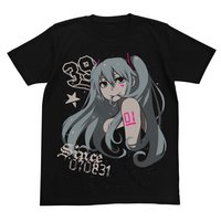 Hatsune Miku CHANxCO Ver. Star Black T-Shirt